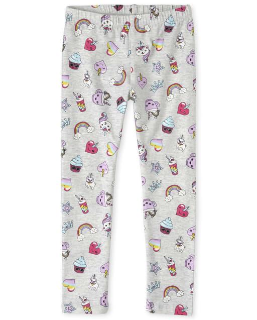 Girls Caticorn Rainbow Frappe Print Leggings