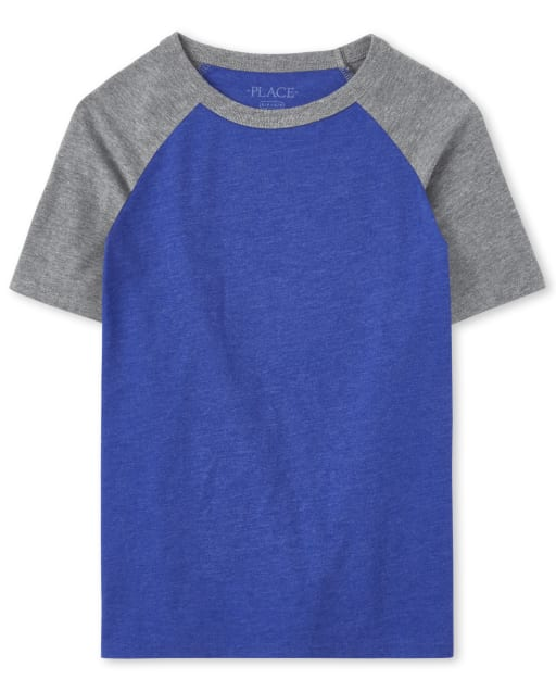Boys Short Sleeve Raglan Top