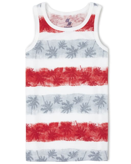 Boys PLACE Sport Sleeveless Striped Palm Tree Print Matching Tank Top