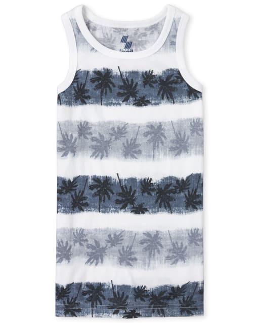 Boys PLACE Sport Sleeveless Striped Palm Tree Print Matching Tank Top