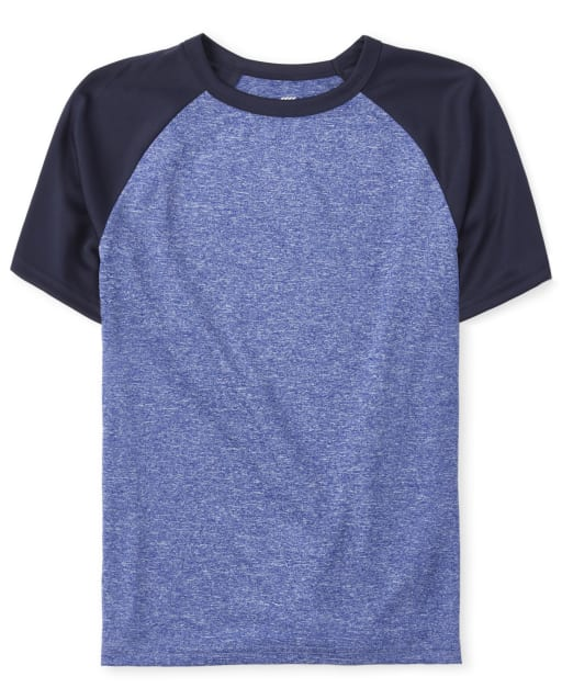 Boys PLACE Sport Short Sleeve Marled Raglan Performance Top
