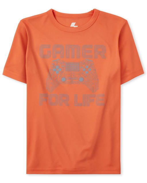 Boys Mix And Match Short Sleeve Sports Graphic Performance Top