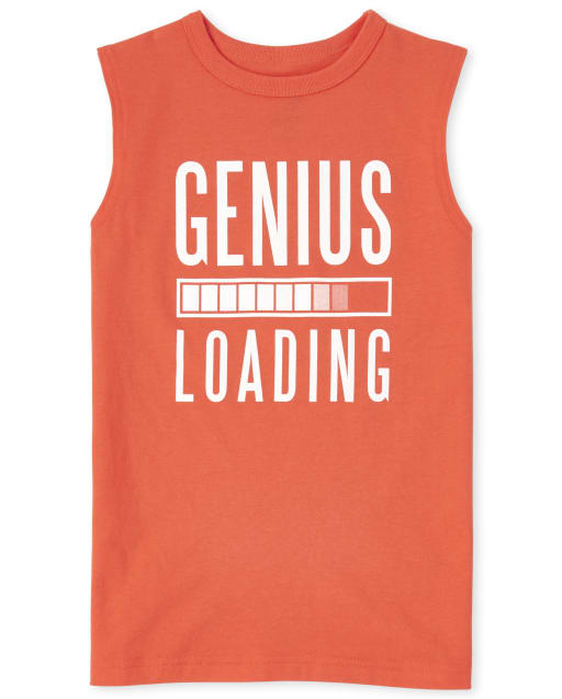 Boys Mix And Match Sleeveless Graphic Muscle Tank Top