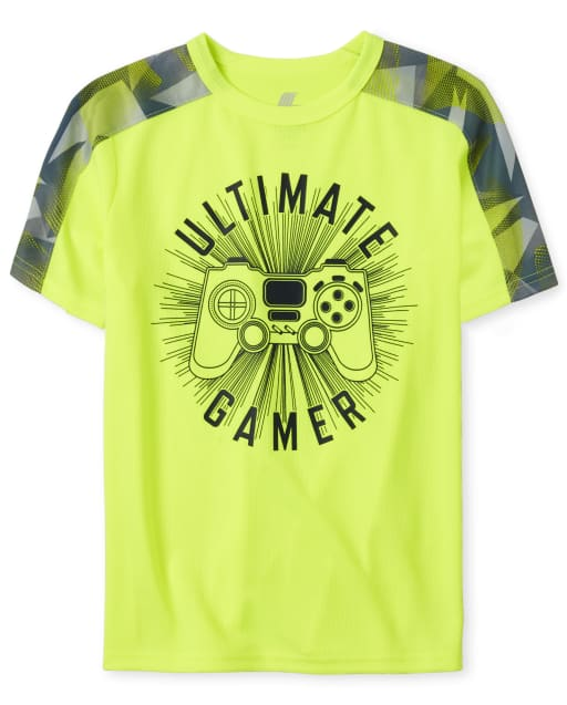 Boys Mix And Match Short Sleeve Graphic Mesh Performance Top