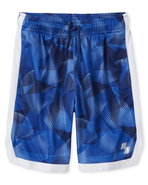 Boys PLACE Sport Side Stripe And Print Knit Performance Basketball Shorts