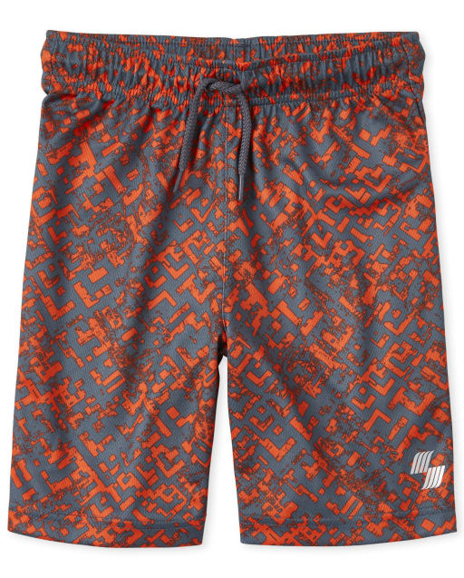 Boys PLACE Sport Print Knit Performance Basketball Shorts