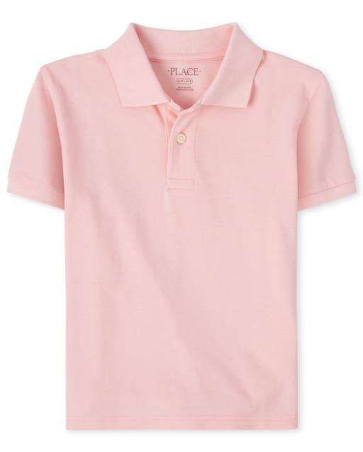Boys Easter Short Sleeve Pique Matching Polo