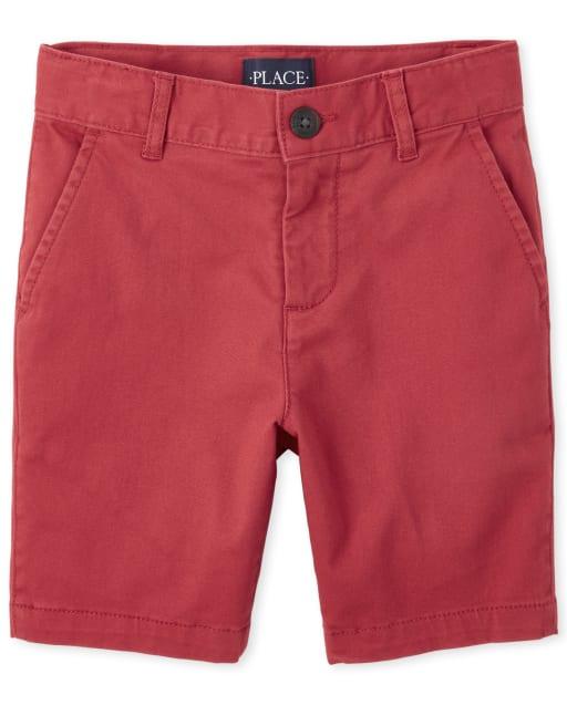 Boys Stretch Woven Chino Shorts