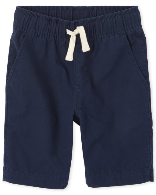 Boys Woven Pull On Jogger Shorts