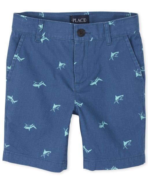 Boys Print Woven Chino Shorts