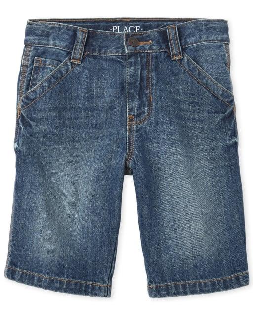 Boys Denim Utility Shorts