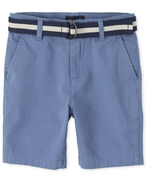 Boys Easter Belted Woven Matching Chino Shorts
