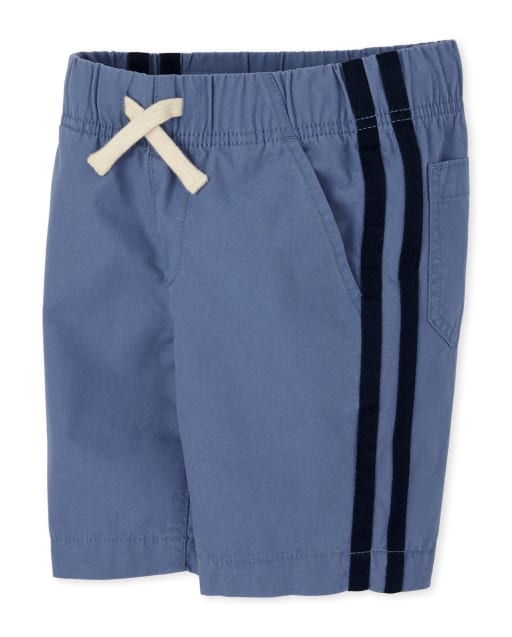 Boys Striped Woven Pull On Matching Jogger Shorts