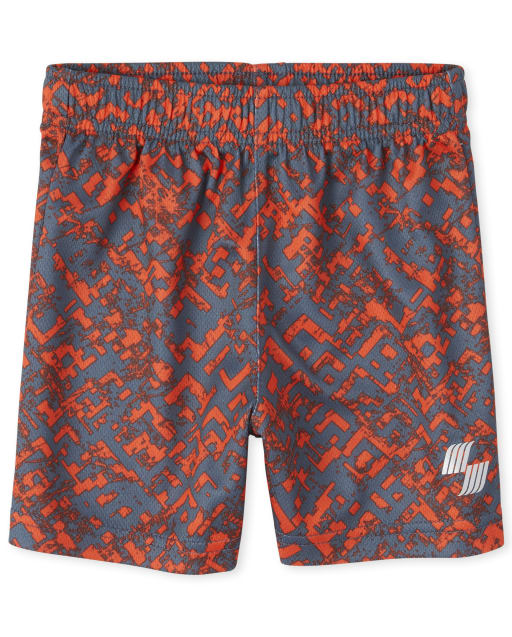 Baby And Toddler Boys PLACE Sport Print Knit Matching Performance Basketball Shorts