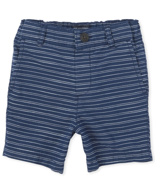 Baby And Toddler Boys Striped Woven Matching Chino Shorts