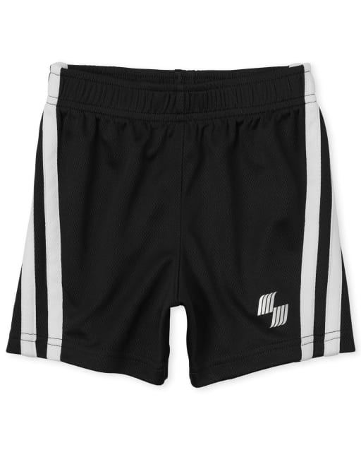 Baby And Toddler Boys PLACE Sport Side Stripe Knit Performance Basketball Shorts