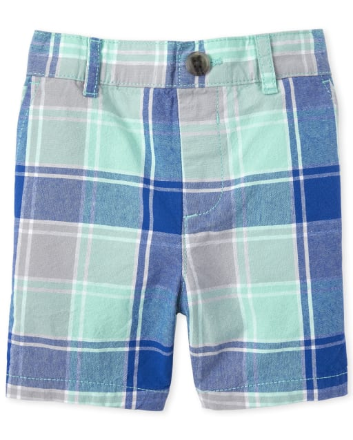 Baby And Toddler Boys Plaid Woven Matching Chino Shorts