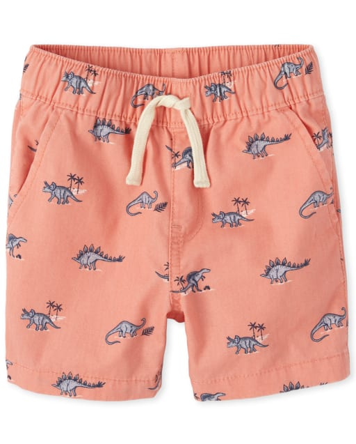 Baby And Toddler Boys Dino Woven Pull On Jogger Shorts
