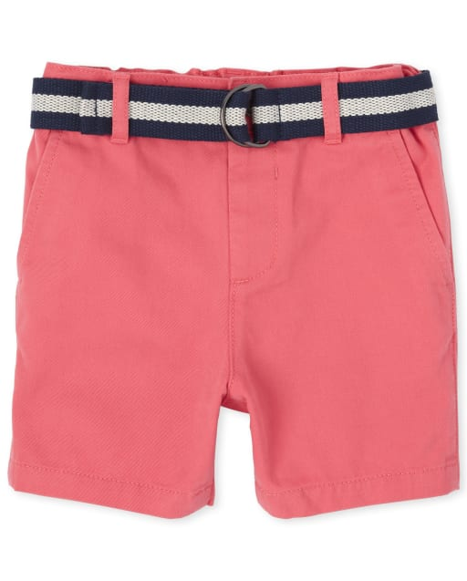 Baby And Toddler Boys Easter Woven Matching Belted Chino Shorts