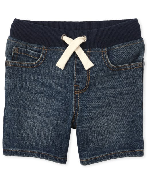 Baby And Toddler Boys Stretch Pull On Denim Shorts