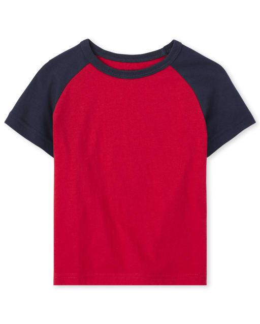 Baby And Toddler Boys Short Sleeve Raglan Top