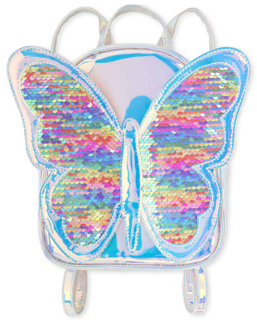 Girls CRAZY 8 Flip Sequin Butterfly Holographic Mini Backpack