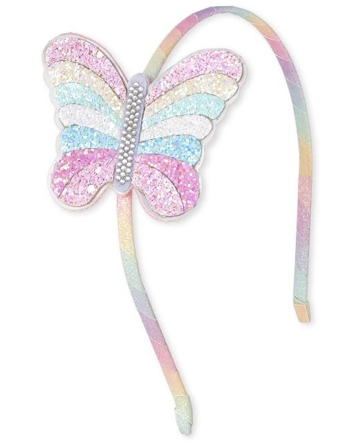 New Gymboree Butterfly Girl Line Gem Flower Corsage Headband Hair Accessory NWT