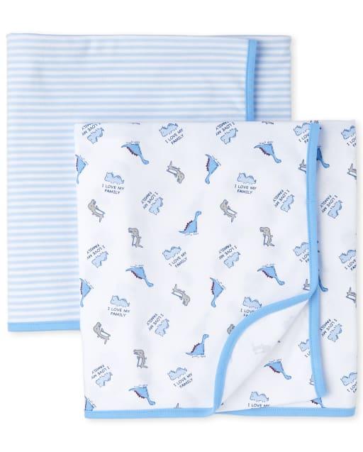 Baby Boys Dino Swaddle Blanket 2-Pack