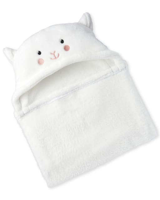 Unisex Baby Sheep Hooded Cozy Blanket