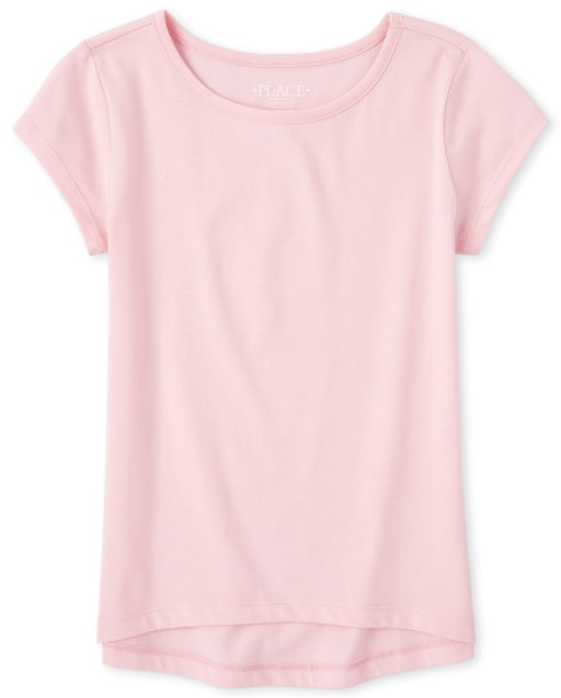 Girls Short Sleeve Basic Layering Tee