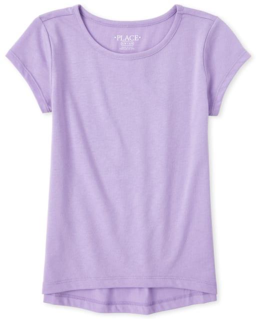 Girls Short Sleeve Basic Layering Tee