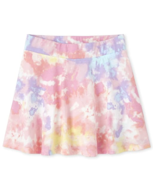 Girls Mix And Match Print Knit Skort