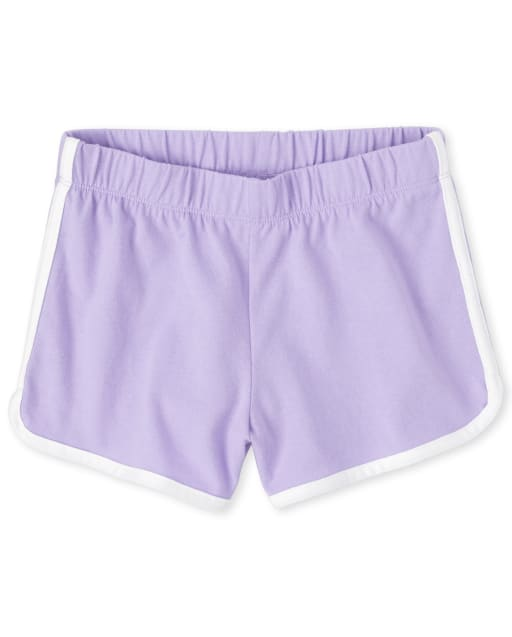 Girls Mix And Match Knit Dolphin Shorts