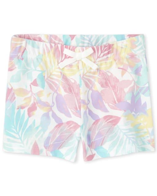 Girls Mix And Match Print Knit Shorts