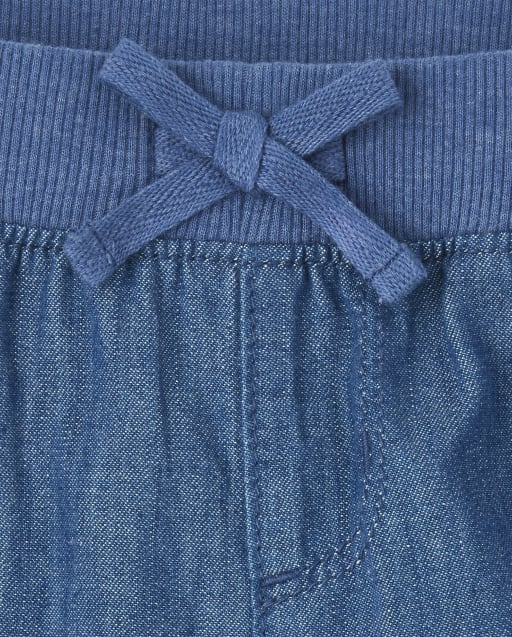 The Childrens Place Girls Denim Pull on Shorts