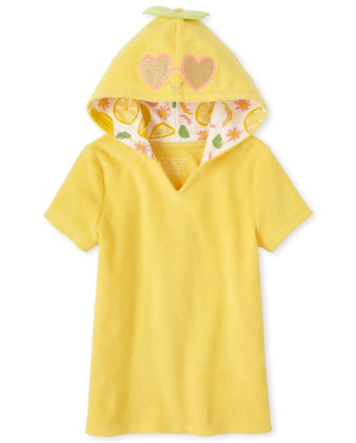 Baby And Toddler Girls Short Sleeve Lemon Terry Cover Up