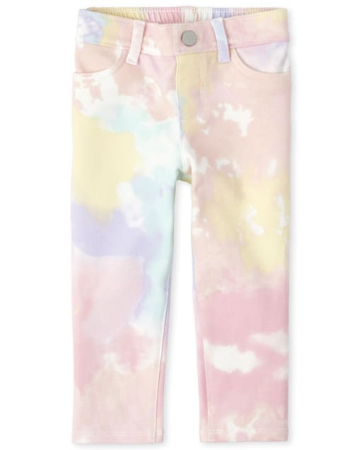 The Childrens Place Girls Baby and Toddler Tie Dye Pull on Beach Pants