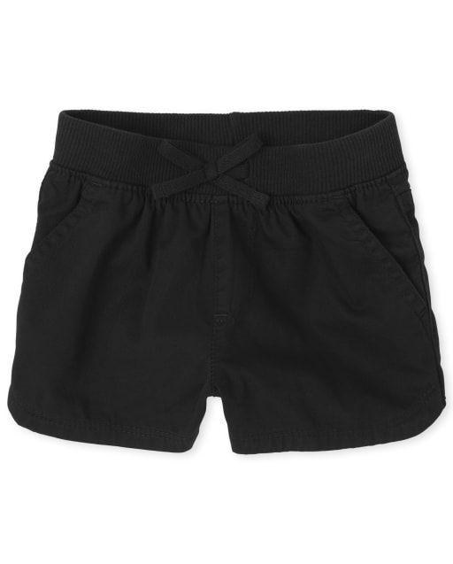Baby And Toddler Girls Woven Pull On Matching Shorts