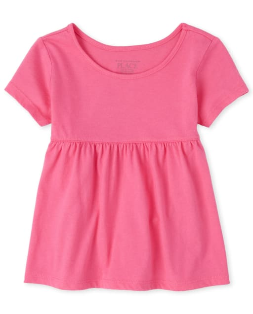 Baby And Toddler Girls Short Sleeve Tunic Top