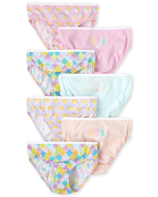 Girls Mermaid Briefs 7-Pack