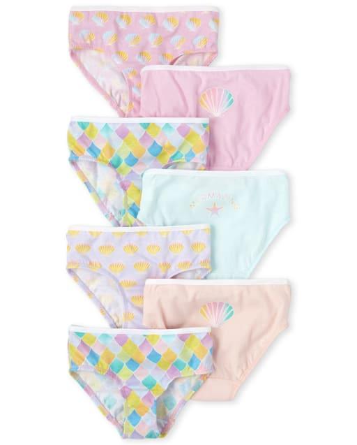 Toddler Girls Mermaid Briefs 7-Pack