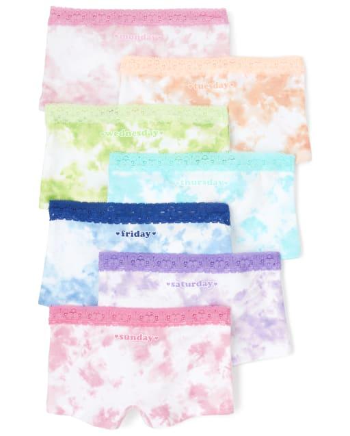 Girls Days Of The Week Tie Dye Girl Shorts 7-Pack