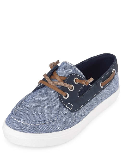 Boys Easter Chambray Matching Boat Shoes