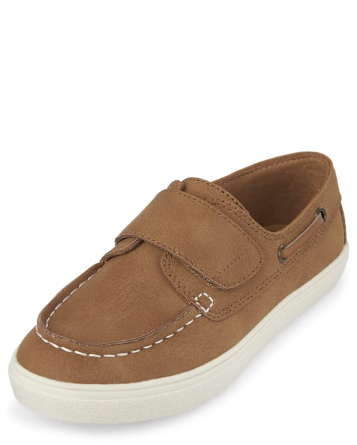 Boys Easter Faux Leather Boat Shoes