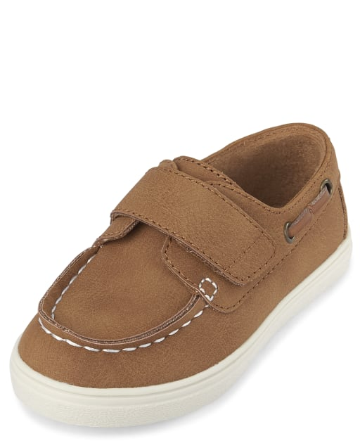 Toddler Boys Easter Faux Leather Boat Shoes