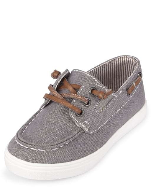 Toddler Boys Easter Chambray Matching Boat Shoes