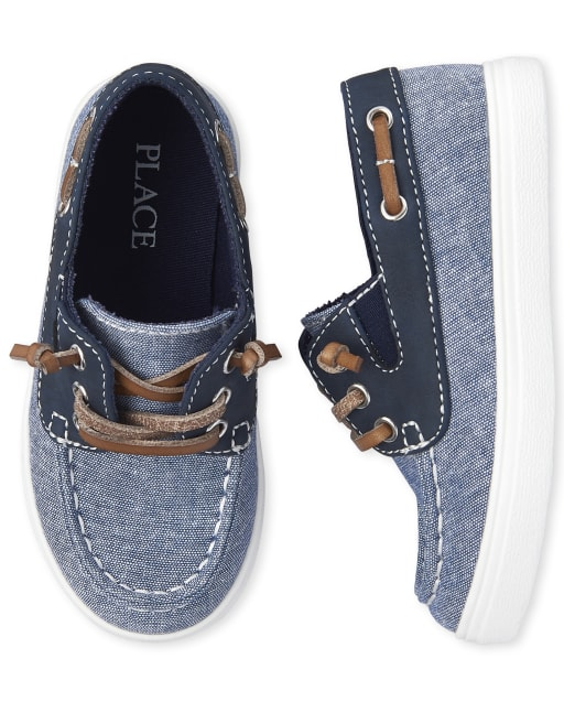 The Childrens Place Kids Boys Lace-up Sneaker Boat Shoe