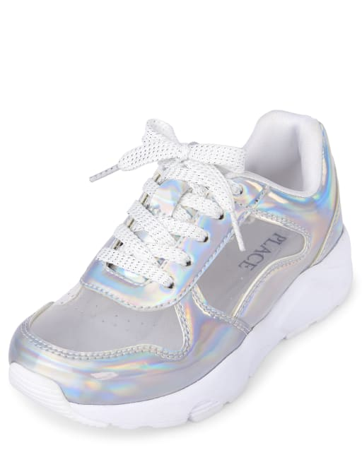 Girls Holographic Clear Sneakers
