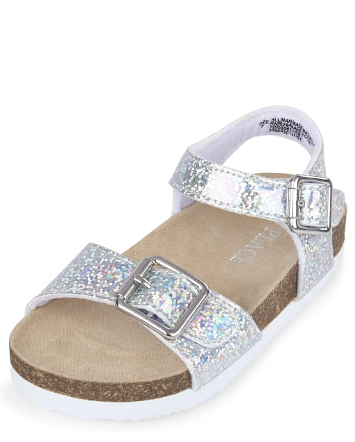 Toddler Girls Holographic Matching Sandals