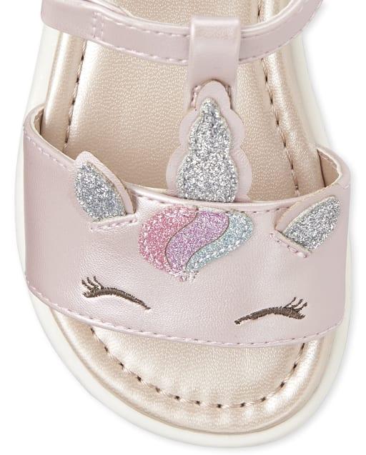 Toddler Girls Glitter Unicorn Faux